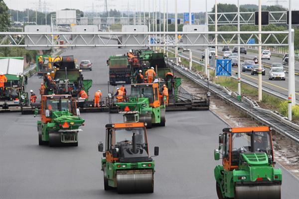 Een overzicht van de geplande wegenwerken per provincie.(België).